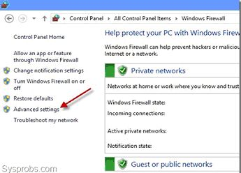 Firewall download windows 7